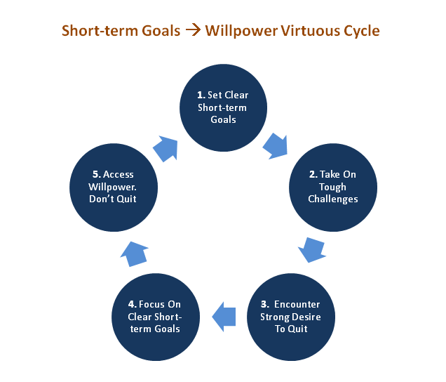 Goal Setting - Willpower - Virtuous Cycle