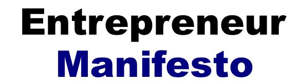 entrepreneur manifesto